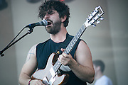 FOALS performing during day 2 of Lollapalooza 2013 on August 3rd, 2013.