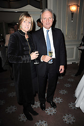 CHARLES ANSON and his wife JULIET NICOLSON at a party to celebrate Penguin's reissue of Nancy Mitford's 'Wigs on The Green' hosted by Tatler at Claridge's, Brook Street, London on 10th March 2010.