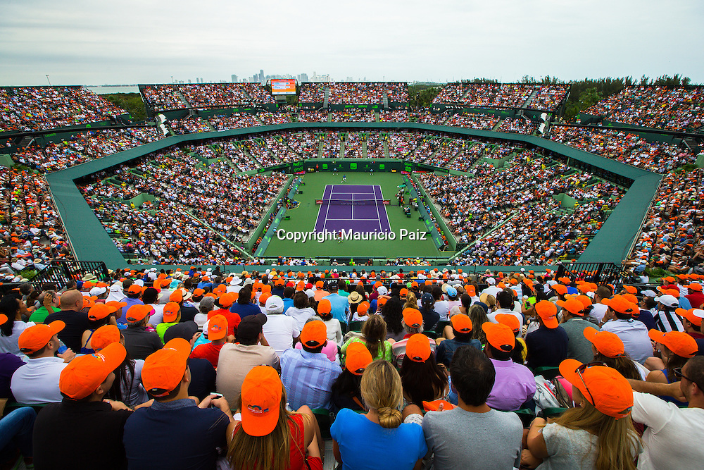 Miami, FL -  Day 2 of the Miami Open 2016 in Crandon Park Tennis Center.