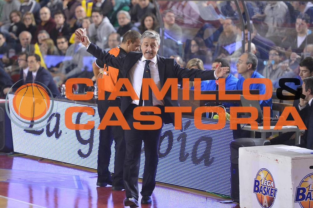 DESCRIZIONE : Roma Lega A 2012-13 Acea Roma EA7 Emporio Armani Milano<br /> GIOCATORE : Marco Calvani<br /> CATEGORIA : delusione<br /> SQUADRA : Acea Roma<br /> EVENTO : Campionato Lega A 2012-2013 <br /> GARA :  Acea Roma EA7 Emporio Armani Milano<br /> DATA : 17/02/2013<br /> SPORT : Pallacanestro <br /> AUTORE : Agenzia Ciamillo-Castoria/GiulioCiamillo<br /> Galleria : Lega Basket A 2012-2013  <br /> Fotonotizia : Roma Lega A 2012-13 Acea Roma EA7 Emporio Armani Milano<br /> Predefinita :