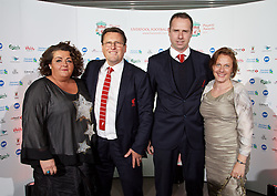 LIVERPOOL, ENGLAND - Tuesday, May 19, 2015: Liverpool's coach Colin Pascoe and assistant manager Glen Driscoll arrive on the red carpet for the Liverpool FC Players' Awards Dinner 2015 at the Liverpool Arena. (Pic by David Rawcliffe/Propaganda)