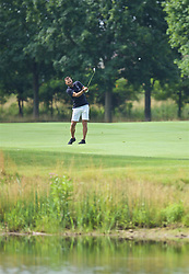 SOUTH BEND, INDIANA, USA - Wednesday, July 17, 2019: Liverpool's Club Ambassador Patrik Berger plays golf at the Warren Golf Club at Notre Dame University on day two of the club's pre-season tour of America. (Pic by David Rawcliffe/Propaganda)