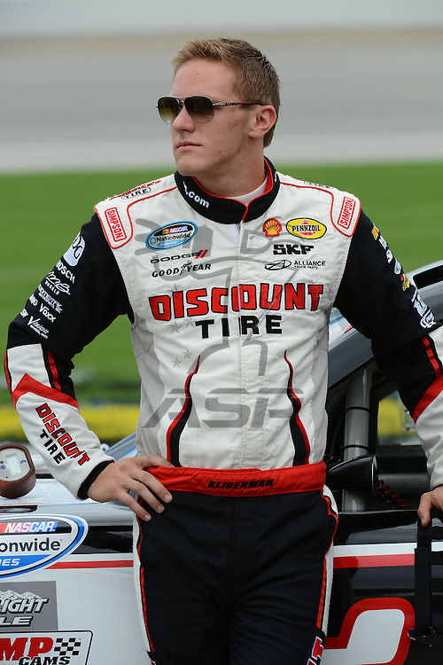 Joliet,Il - JUL 22, 2012: Parker Kligerman (22) during qualifying for the STP 300 at Chicagoland Speedway in Joliet, Il.