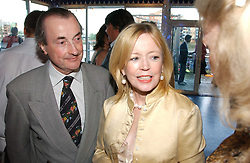 Actress ANGHARAD REES and MR DAVID McALPINE at a party hosted by Sonia & Andrew Sinclair at The Westminster Boating Base, 136 Grosvenor Road, London SW1 on 5th June 2006.<br />