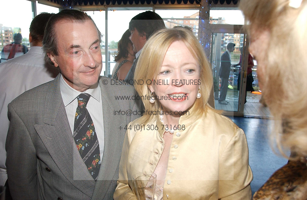 Actress ANGHARAD REES and MR DAVID McALPINE at a party hosted by Sonia &amp; Andrew Sinclair at The Westminster Boating Base, 136 Grosvenor Road, London SW1 on 5th June 2006.<br />