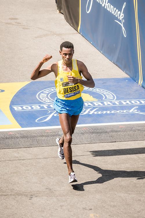 Boston Marathon Lelisa Desisa, Ethiopia, 2nd