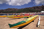 Molokai Hoe Canoe Race start<br />