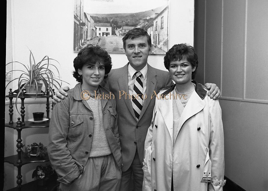"""The Carlingford Oyster Festival.1982.19.08.1982..08.19.1982.19th August 1982..Pictures and Images of the Carlingford Oyster Festival...The Minister For Fisheries and Forestry Mr Brendan Daly officially opened  The Carlingford Oyster Festival. The Chairman of the organising committee was Mr. Joe McKevitt..""""The Oyster Pearl"""" was Ms Deirdre McGrath."""