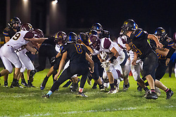 27 September 2019: LeRoy Panthers at Tri Valley Vikings boys HOIC (Heart of Illinois Conference) football, Heyworth Illinois<br /> <br /> 2