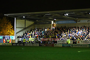 Darkness as the a power cut takes out the stadium lighting during the EFL Cup match between Burton Albion and Bournemouth at the Pirelli Stadium, Burton upon Trent, England on 25 September 2019.