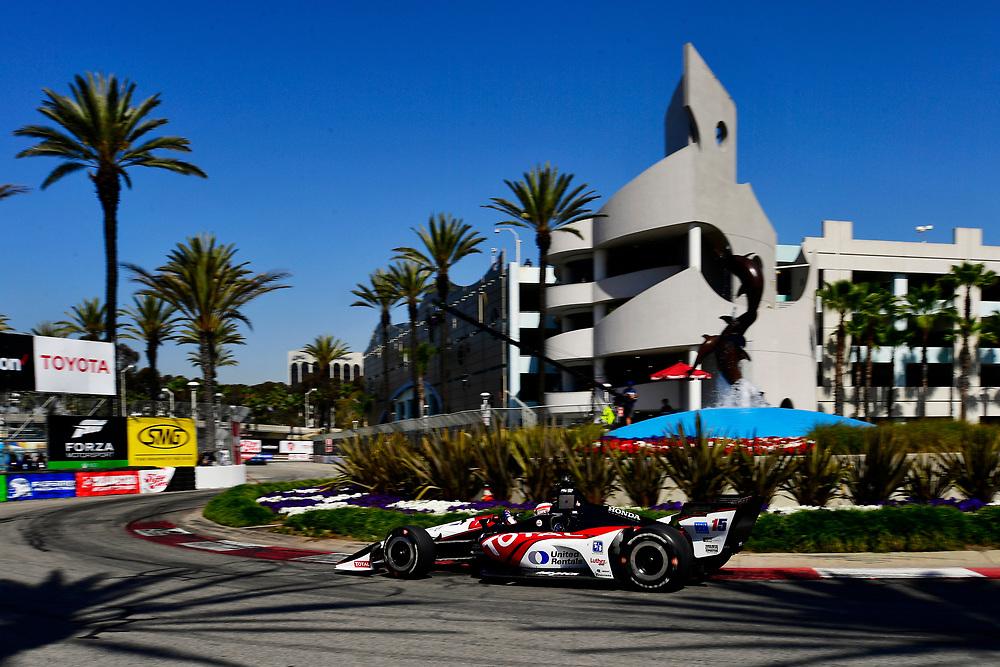 Graham Rahal, Rahal Letterman Lanigan Racing Honda<br /> Saturday 14 April 2018<br /> Toyota Grand Prix of Long Beach<br /> Verizon IndyCar Series<br /> Streets of Long Beach, California USA<br /> World Copyright: Scott R LePage<br /> LAT Images