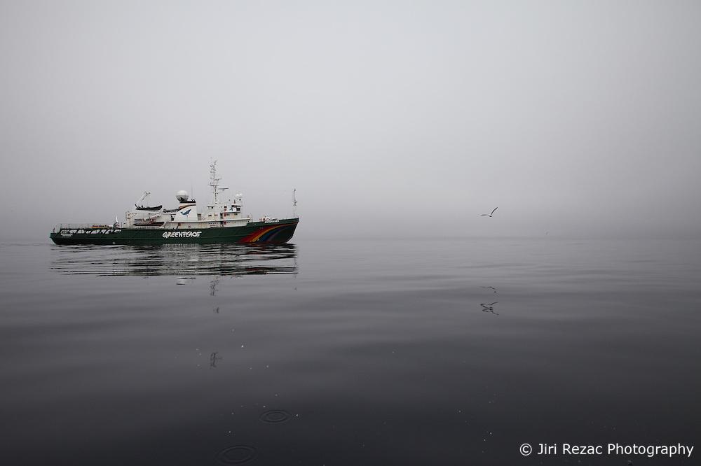 LABRADOR SEA 16JUN11 -The Greenpeace ship Esperanza in the Davis Stait off the coast of Greenland.....Photo by Jiri Rezac / Greenpeace
