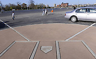 CHICAGO, IL-APRIL 9:  Home plate from the old Comiskey Park is marked in parking lot B at U.S. Cellular Field in Chicago, Illinois.  Old Comiskey Park, home of the Chicago White Sox from 1910 thru 1990,was demolished in 1991.  (Photo by Ron Vesely)