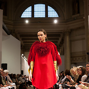 13.05.2016.           <br /> A model showcases designs by Simone Kennedy titled 'Figment' at the much anticipated Limerick School of Art & Design, LIT, (LSAD) Graduate Fashion Show on Thursday 12th May 2016. The show took place at the LSAD Gallery where 27 graduates from the largest fashion degree programme in Ireland showcased their creations. Ranked among the world's top 50 fashion colleges, Limerick School of Art and Design is continuing to mold future Irish designers.. Picture: Alan Place/Fusionshooters