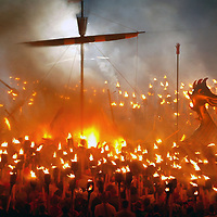 Shetland Up Helly Aa fire festival.Photograph David Cheskin.