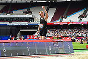 Greg Rutherford of Great Britain after his last long jump in the Men's Long Jump during the Muller Anniversary Games, Day Two, at the London Stadium, London, England on 22 July 2018. Picture by Martin Cole.