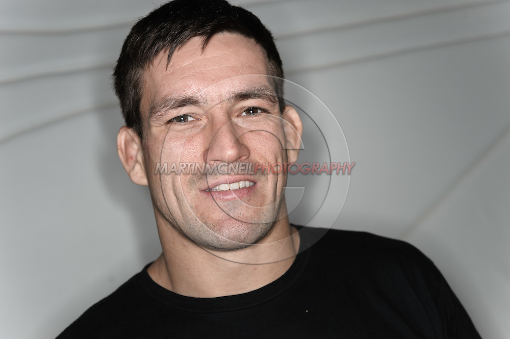 A portrait of mixed martial arts athlete Demian Maia
