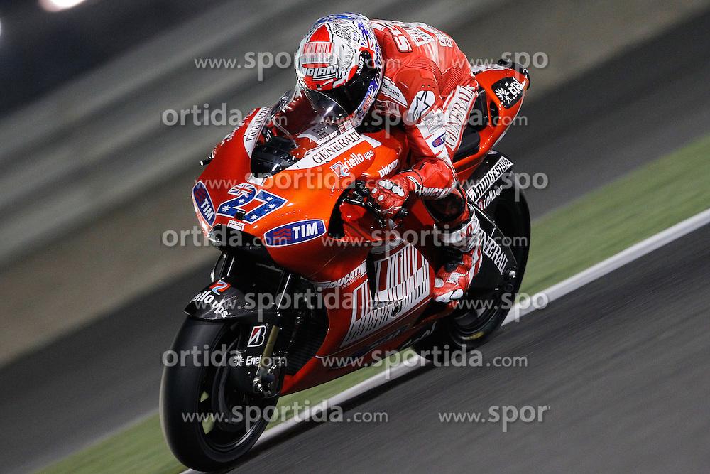 19.03.2010, Doha, Katar, QAT, MotoGP, Tests im Bild Casey Stoner - Ducati team, EXPA Pictures © 2010, PhotoCredit: EXPA/ InsideFoto/ Semedia / SPORTIDA PHOTO AGENCY