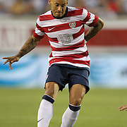 United States Midfielder Jermaine Jones (13) during an international friendly soccer match between Scotland and the United States at EverBank Field on Saturday, May 26, 2012 in Jacksonville, Florida.  The United States won the match 5-1 in front of 44,000 fans. (AP Photo/Alex Menendez)