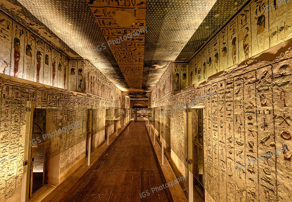 KV 11, Rameses III burial Chamber - Valley of the Kings Egypt