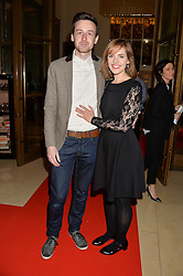 RICHARD CANAVAN and JULIA NOAKES at a screening of 2 short films as part of the Corinthia Hotel's Artist in Residence held at The Corinthia Hotel, Northumberland Avenue, London on 12th May 2014.