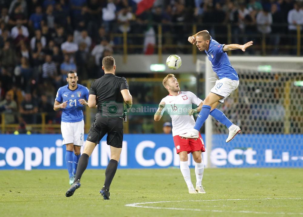 September 7, 2018 - Bologna, Italy - Leonardo Bonucci during Uefa Nation League 2018 match between Italia v Polonia, in Bologna, on September 7, 2018  (Credit Image: © Loris Roselli/NurPhoto/ZUMA Press)