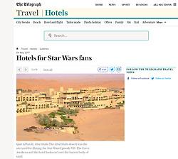 Telegraph Travel; Qasr al Sarab Hotel in UAE