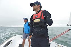 Eric Flageul, Bruno Jourden - Stage d'entrainement avec l'equipe France de voile - Sonar a ENVSN, St Pierre de Quiberon