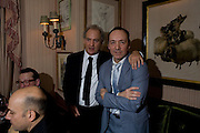 CHARLES FINCH AND KEVIN SPACEY, Pre Bafta dinner hosted by Charles Finch and Chanel. Mark's Club. Charles St. London. 9 February 2008.  *** Local Caption *** -DO NOT ARCHIVE-© Copyright Photograph by Dafydd Jones. 248 Clapham Rd. London SW9 0PZ. Tel 0207 820 0771. www.dafjones.com.