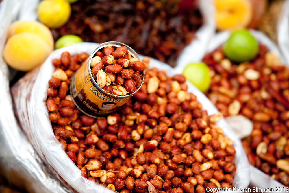 Selling Nuts on the Street in Cholula