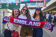 England fans during the Friendly International match between England and Nigeria at Wembley Stadium, London, England on 2 June 2018. Picture by Toyin Oshodi.
