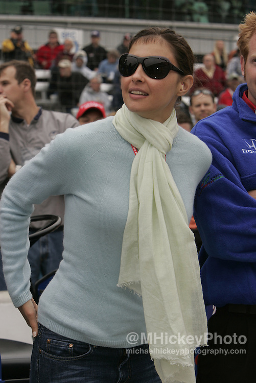 Ashley Judd at the Indianapolis 500 qualifications Photo by Michael Hickey