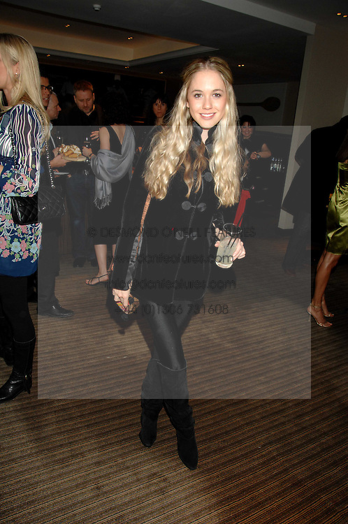 FLORENCE BRUDENELL-BRUCE at a party to celebrate the publication of Lisa B's book 'Lifestyle Essentials' held at the Cook Book Cafe, Intercontinental Hotel, Park Lane London on 10th April 2008.<br />
