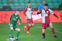Asmir Suljic, Nikola Leko during football match between NK Olimpija Ljubljana and NK Aluminij in semi final of Slovenian Cup 2018/19, on April 23, 2019 in Stozice Stadium, Ljubljana, Slovenia. Photo by Morgan Kristan