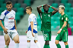 Kingsley Boateng of Olimpija reacts during football match between NK Olimpija Ljubljana and NK Celje in 3rd Round of Prva liga Telekom Slovenije 2018/19, on Avgust 05, 2018 in SRC Stozice, Ljubljana, Slovenia. Photo by Vid Ponikvar / Sportida
