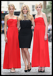 Holly Willoughby with models at the launch of her Autumn/Winter 2012 collection for very.co.uk  in London, Wednesday, 27th June 2012 Photo by: Stephen Lock / i-Images