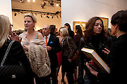 ANGIE DIGGLE; MARIA SUKKAR Book launch for ' art and Patronage: The Middle East' at Sotheby's. London. 22 November 2010. -DO NOT ARCHIVE-© Copyright Photograph by Dafydd Jones. 248 Clapham Rd. London SW9 0PZ. Tel 0207 820 0771. www.dafjones.com.