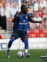 Photo: Steve Bond/Richard Lane Photography. Nottingham Forest v Sunderland. Pre Season Friendy. 29/07/2008. Pascal Chimbonda looks for help