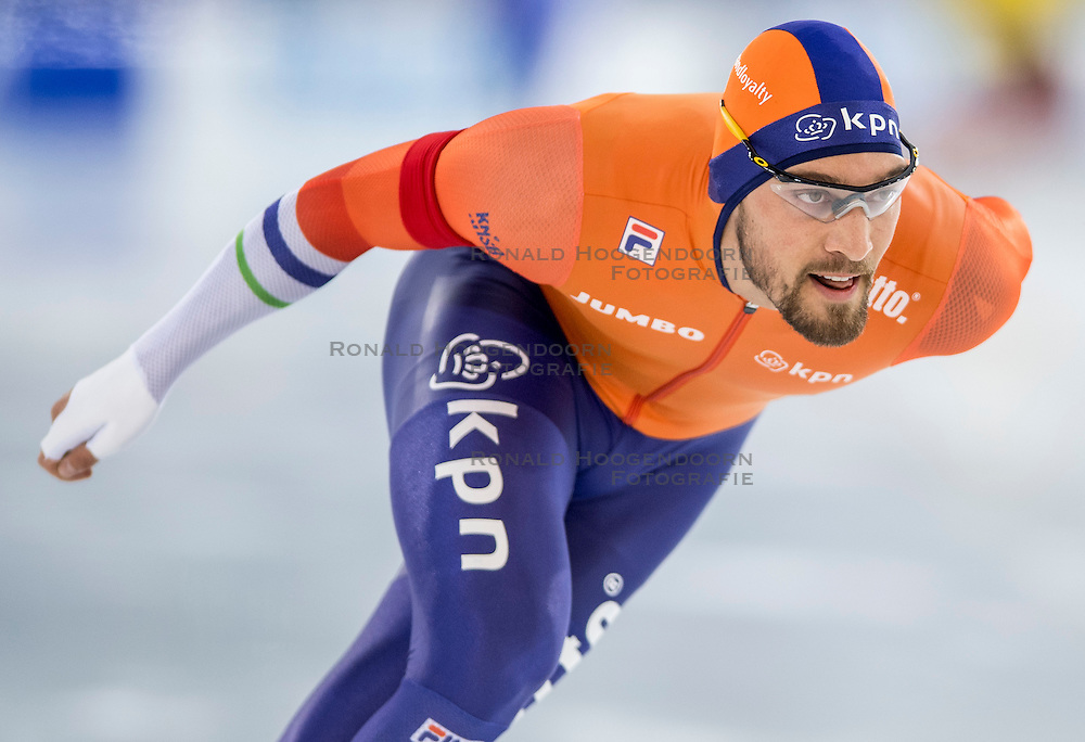 10-12-2016 NED: ISU World Cup Speed Skating, Heerenveen<br /> 1500 m men / Kjeld Nuis heeft bij de wereldbeker schaatsen in Heerenveen goud gewonnen op de 1500 meter.