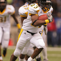 2008 November, 29: Grambling State running back Frank Warren (23) on a touchdown run during a 29-14 win by Grambling State over Southern University during the 35th annual State Farm Bayou Classic at the Louisiana Superdome in New Orleans, LA.  .