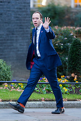 © Licensed to London News Pictures. 14/01/2019. London UK. Secretary of State for Health & Social care Matt Hancock arriving at Downing Street this morning. Photo credit: Andrew McCaren/LNP