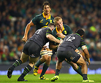 Rugby Union - 2017 Guinness Series (Autumn Internationals) - Ireland vs. South Africa<br /> <br /> South Africa's Peter-Steph du Toit is tackled by Ireland's Cian Healy and Bundee Aki, at the Aviva Stadium.<br /> <br /> COLORSPORT/KEN SUTTON