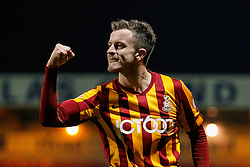 Andrew Halliday celebrates after Billy Knott of Bradford City (not pictured) scores a goal to make it 4-0 - Photo mandatory by-line: Rogan Thomson/JMP - 07966 386802 - 14/01/2015 - SPORT - FOOTBALL - Bradford, England - Coral Windows Stadium - Bradford City v Millwall - FA Cup Third Round Replay.