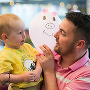 01/09/2017<br /> <br /> Pictured enjoying the Limerick Urban Food Fest, the opening event of the Pigtown Food &amp; Culture Series at the Milk Market, Limerick, is Ollie Lonergan, aged 2, with his father Paul Lonergan, from the Ennis Road, Limerick<br /> and Picture: Diarmuid Greene/Alan Place Photography
