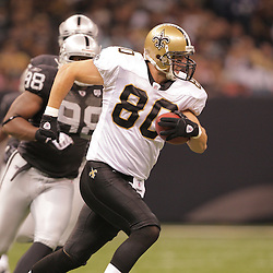 2008 October, 12: New Orleans Saints tight end Mark Campbell (80) during a week six regular season game between the Oakland Raiders and the New Orleans Saints at the Louisiana Superdome in New Orleans, LA.