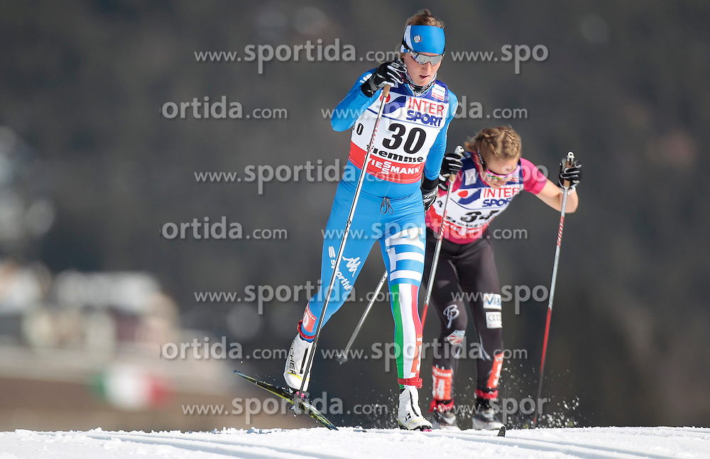 02.03.2013, Langlaufstadion, Lago di Tesero, ITA, FIS Weltmeisterschaften Ski Nordisch, Langlauf Damen, 30 Km, im Bild Lucia Scardoni (ITA) // Lucia Scardoni of Italy during the Ladies 30 km Cross Country of the FIS Nordic Ski World Championships 2013 at the Cross Country Stadium, Lago di Tesero, Italy on 2013/03/02. EXPA Pictures ©  2013, PhotoCredit: EXPA/ Federico Modica