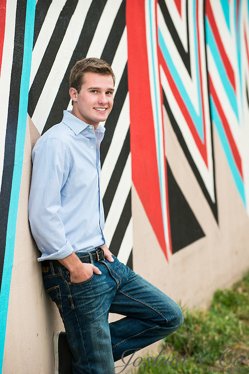 Ralston Valley High School's Christopher Greer poses for his senior portraits in Denver, Colo., on Sunday, Aug 31, 2014.<br /> <br /> Joshua Lawton // Joshua &amp; Co. Photography <br /> <br /> www.joshuacophotography.com