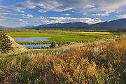 Looking south west across the Columbia Valley to the Purcell Mountains, RAdium, British Columbia, Canada
