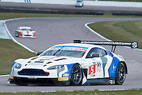 Pete Littler (GBR) / Jody Fannin (GBR)  #5 PFL Motorsport  Aston Martin V12 Vantage GT3  Aston Martin 6.0L V12, British GT Championship at Rockingham, Corby, Northamptonshire, United Kingdom. April 30 2016. World Copyright Peter Taylor/PSP.