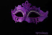 Purple masquerade mask
